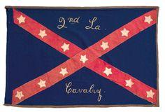 Confederate flag for the Second Louisiana Cavalry.