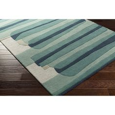Nida Hand-Tufted Green Area Rug by Varick Gallery