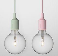 AphroChic: The New Trend In Lighting: Pastels: Muuto E27 Pendant Lamp