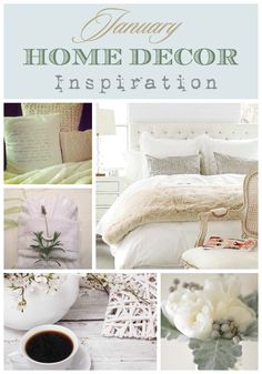 Do you love fresh starts!  A new year signals the perception of a clean slate.  Here are some visuals of the January HOME DECOR INSPIRATION that's influencing me right now | Designthusiasm.com #homedecor #winter