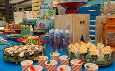 MESA DO BOLO PARABENS Festa infantil com tema 'Fundo do Mar' no 'Fazendo a Festa' - Fazendo a Festa - GNT
