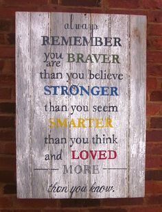 Always Remember - Hand Painted Wood Sign on Etsy, $125.00