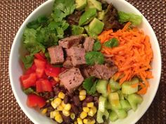 Southwestern Salad with Grass-Fed Beef & Spicy Vinaigrette