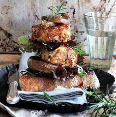 Chicken, Leek and Mushroom Burger recipe