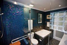 - Lightstreams Glass Bathroom Tile | Peacock Blue DK