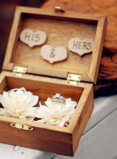 2014 lotus beach wedding ring bearer box, wood ring bearer box, wedding ring box www.dreamyweddingideas.com