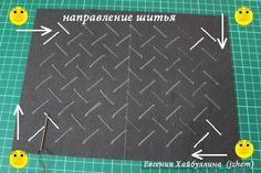 Предлагаю сшить клатч с буфом имитация плетения из искусственной кожи. От других клатчей он отличается 'плетеной' серединкой и методом пришивания фермуара с подкладом. На этом я остановлюсь подробно :) 1. Выкройка зависит от размеров фермуара. Смотрите схему. Красными цифрами указаны мои размеры. Синим текстом - рекомендации для самостоятельного раскроя.