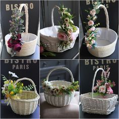 Wedding Gift Baskets, Wedding Gift Wrapping, Shabby Chic Art, Tree Plan, Diy Gift Box, Spring Design, Happy Flowers, Flower Girl Basket, Basket Decoration
