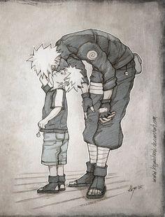 Kakashi and his son Obito. <3 by kejablank