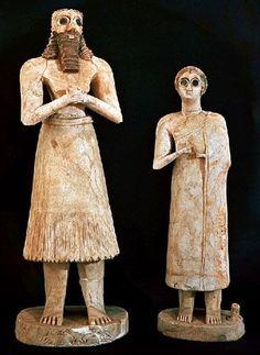 Rukoilijaveistoksia, 2600 eaa, Mesopotamia