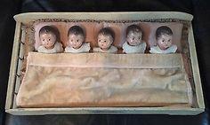 Original Dionne Quintuplet's In Crib