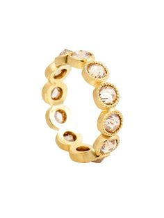 Sylva & Cie 14k Yellow Gold and Champagne Diamond Band at London Jewelers!