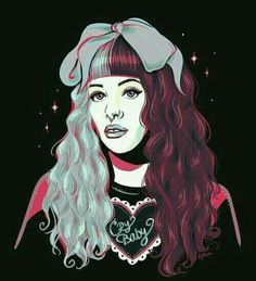 Cry Baby, Poppy Singer, Melanie Martinez Drawings, Sending Love And Light, Beautiful Drawings, Crazy People, Her Music, Her Style, Famous People