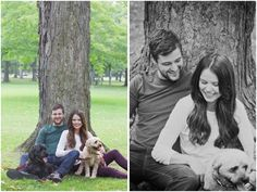 Engagement session with dogs by Madison Rose Photography
