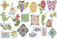 AD-1249: Mosaic Tile Embroidery Designs