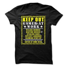 (Cool T-Shirts) Keep Out Gamer at Work. DiscountTshirts Design Description: Keep Out Gamer at Work. Killing Enemies, Beating Bosses, Stealing Cars, Explict Language, Blowing Stuff Up! Leave Food And Drink At door Then Go […] Cute Teen Outfits, Teenage Girl Outfits, Teenage Girl Gifts, Outfits For Teens, Cheer Shirts, Plaid Shirts, Cut Shirts, Work Shirts, Casual Shirts