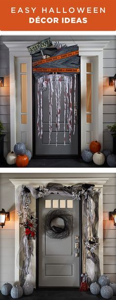Decorate your front door for trick or treaters this Halloween. These décor ideas are easy & Decorate your front door for trick or treaters this Halloween. These ...