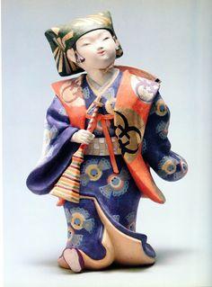 Traditional Shiso doll by National Living Treasure of Japan, KAGOSHIMA Juzo (1898-1982)