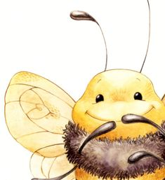 Bumble the Bee ----------------------------------------------------------------------------------------------------------------------------------- Want to Add a custom name or quote? Fabric Painting, Watercolor Paintings, Paint Fabric, Bee Drawing, Bee Creative, Rabbit Art, Bee Art, Elephant Art, Small Art