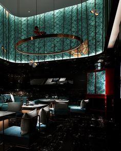 Luxury Home Decoration Ideas Product Bar Interior, Restaurant Interior Design, Design Hotel, Restaurant Lounge, Bar Lounge, Restaurant Kitchen, Commercial Design, Commercial Interiors, Nightclub Design