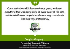 Nice review Rosemarie D'Arienzo! You are truly a #Professional #Realtor and we're lucky to have you on our team! @C21Armstrong @RealtorRose1102