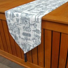 JUDAICA TABLE RUNNER  Shabbat Shalom by HolidaysAtHome on Etsy, $25.00