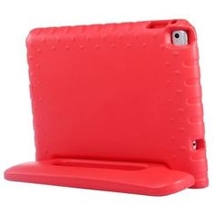 For+iPad+Air+2+/+iPad+6+Red+EVA+Bumper+Protective+Case+with+Handle+&+Holder