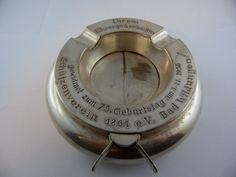 Aschenbecher Bad Wildungen 1955 Alpaka Metall Schützenverein Ehrung