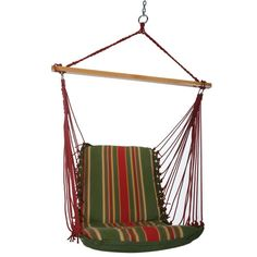 Pawleys Island - DuraCord Cushioned Single-Swing Hammock with Spreader Bar - This item brings instant comfort and luxury to your outdoor living space. Mold, mildew-resistant fabric will stand the test of time.