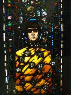 Harry Clarke, The Unhappy Judas - Detail - 1913. National Museum of Decorative Arts & History,Collins Barracks, Dublin.