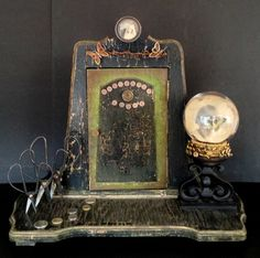 """Lori Vrba Photography/assemblage - Butterfly House Monday, January 6, 2014 at 05:02PM 21""""W x 14""""D x 20""""H  Original and vintage photography with found objects.  One of a kind."""