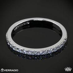 205f864ba9e 18k White Gold Verragio INS-7049DW Bead-Set Diamond Wedding Ring
