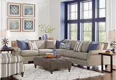 Piedmont Gray 3 Pc Sectional Living Room Find affordable Living Room Sets for your home that will complement the rest of your furniture. Grey Living Room Sets, Sectional Living Room Sets, Cheap Living Room Sets, Design Living Room, Coastal Living Rooms, Living Room Decor, Gray Sectional, Small Sectional, Gray Sofa