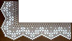 crochet em revista: Pontas Filet Crochet, Crochet Lace Edging, C2c Crochet, Crochet Borders, Freeform Crochet, Thread Crochet, Crochet Crafts, Easy Crochet, Crochet Stitches