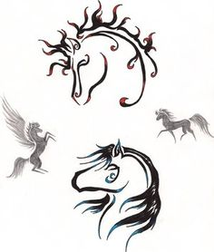 celtic horse tattoos | this is the horse tattoo and it is charming image of a horse tattoo ...