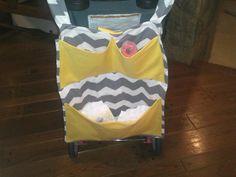 stroller diaper bag by BaylaBeeBoutique on Etsy, $30.00