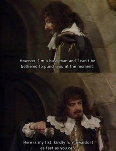 Black adder: here is my fist kindly run towards it