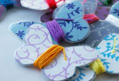 Beneath the Rowan Tree: Make It :: Butterfly Embroidery Floss Holders