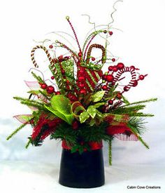 top hat wedding | about Top Hat Centerpiece Floral Arrangement Christmas Holiday wedding ...