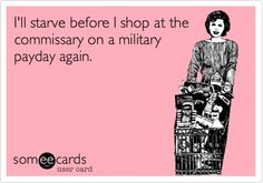 """When I was in, we only did this ONCE,  payday shopping was a semi-organized """"Charley Foxtrot"""" that only Military would understand.  The Commissary 