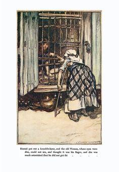 Arthur Rackham Framed and Matted Picture Fairy Tales Woman and Child Signed 1909 Illustrations, Illustration Art, Brothers Grimm Fairy Tales, Grimm Tales, Rapunzel, Dark Fairytale, Arthur Rackham, Storytelling, Fantasy Art