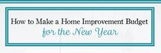 Do you have a home improvement budget for the new year? If not, you can use these tips to get started before 2018 arrives: http://qoo.ly/kav28