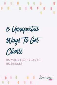 When you're first starting out in your business, it can feel like there are a million challenges in front of you, especially the biggie: getting clients who pay. How do you land that first (or second, or third) client?I'm sharing 5 unexpected ways to get Business Advice, Business Entrepreneur, Business Planning, Business Marketing, Online Business, Salon Business, Business Baby, Business Coaching, Affiliate Marketing