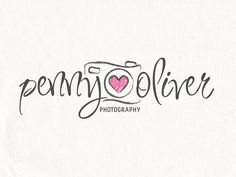 Flowers instead of hearts  Photography logo