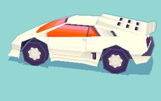 colonthreeenterprises:I redid the textures a bit to make it cleaner, rigged it and made it jump. The wheels don't look that low poly once in motion. :3 Support Catmouth Island NOW!>:3