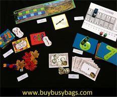 busy bag activities (preschool mathematics bag) $32