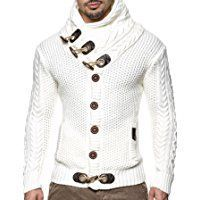 LEIF NELSON Men's Knitted Jacket Cardigan 4195