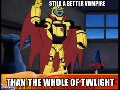 Bumblebee is so much better than Twilight by Blurr19.deviantart.com on @DeviantArt