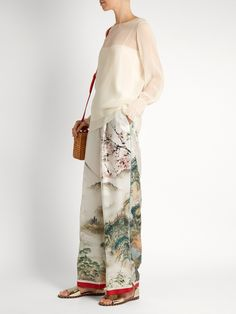 Japanese-print silk pyjama trousers | F.R.S – For Restless Sleepers |  MATCHESFASHION.COM