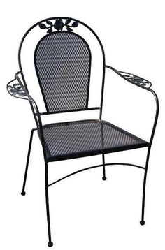 "A traditional forged iron chair for veranda, rustic patio and garden. It is artisan made in black iron, rusted and natural finishing. Forged Iron Chair ""Traditional"" by Rustica House."